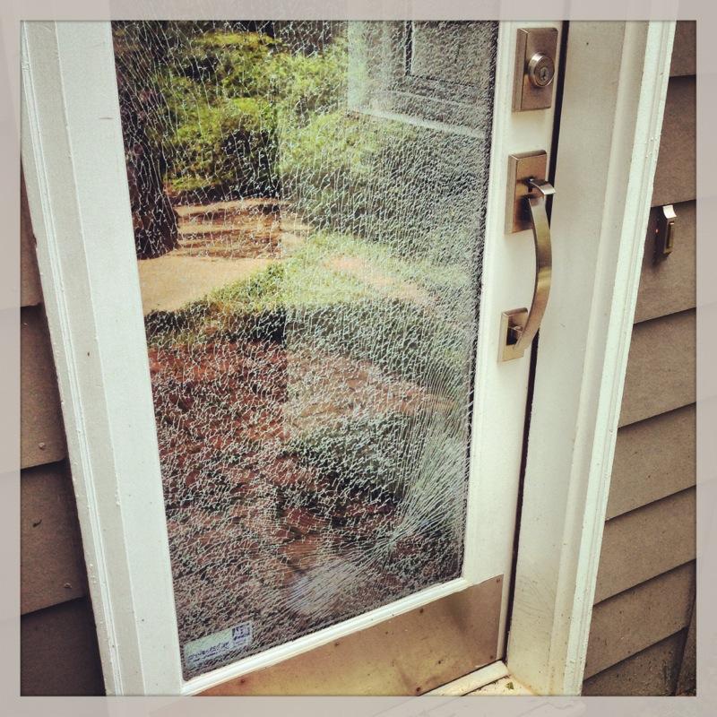 Shattered Front Door