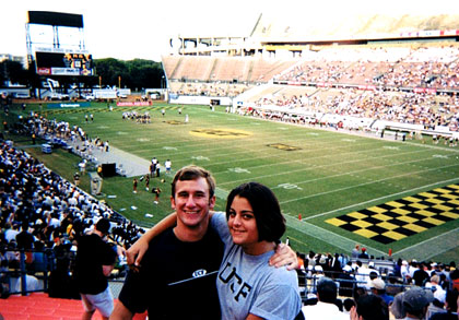 Ames and I at a UCF football game.  Fall of 2000.
