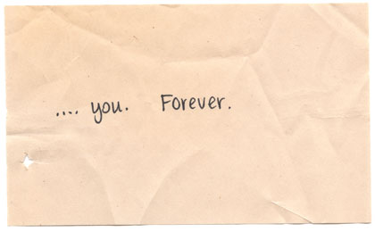 ...you. forever.