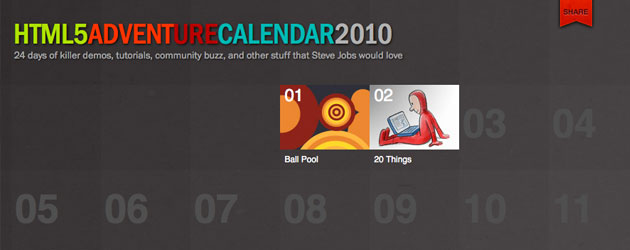 HTML5 Advent Calendar