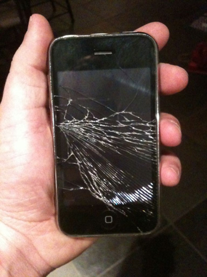 Amy's Cracked iPhone Screen