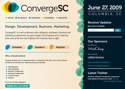 ConvergeSC.org Screenshot