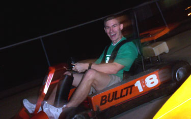 My brother on a go-kart.