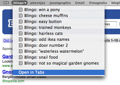 Blingo Open in Tabs