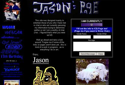Pre-Jasongraphix Homepage