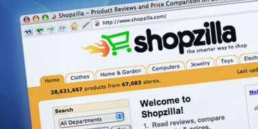 Shopzilla on Opera.